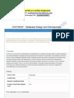 COIT20247 - Database Design and Development