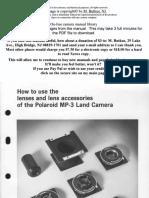 Polaroid Mp-3 Lenses