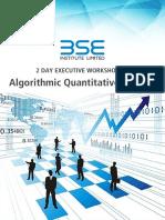 Algorithmic Quantitative Trading