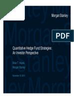 Quantitative Hedge Fund Strategies