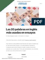 Las 20 Palabras en Inglés Más Populares _ SpanishDict