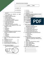 Evaluacion de Conjuntos