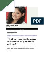 Diario 1 - Y Si Le Preguntáramos a Romero Si Podemos Entrar - 27 05 15