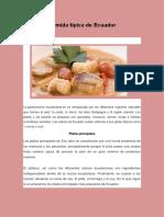 Comida Típica de Ecuadorr