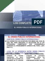 9 Conflicto de Leyes - El Orden Publico Internacional
