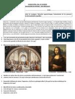 Evaluación- Humanismo, Renacimiento y Reforma