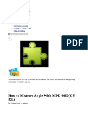 How to Measure Angle With MPU-6050(GY-521) | Communication | World