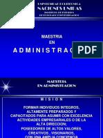 ADMINISTRACION MAESTRIA