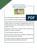 Cuento Boloca La Vaca Loca