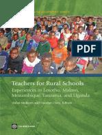 ED Teachers Rural Schools L M M T U
