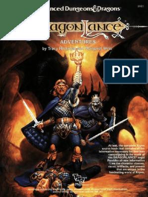 Dragonlance Accessory Dragonlance Adventures Pdf Dragonlance
