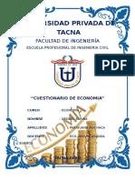 Cuestionario de Economía Imprimir