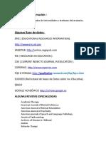 Bases de Datos y Revistas Especializadas (Autismo-TEA-TGD)