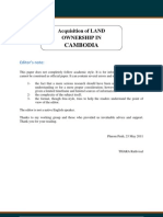 Acquisition of Land Ownership in Cambodia