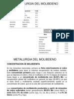 Metalurgia Del Molibdeno