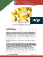 Vitamina a y El Mito Del Beta Caroteno