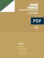 Fauré Frank Sonates pour Violon & Piano