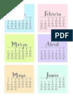 Calendario Escritorio Colores