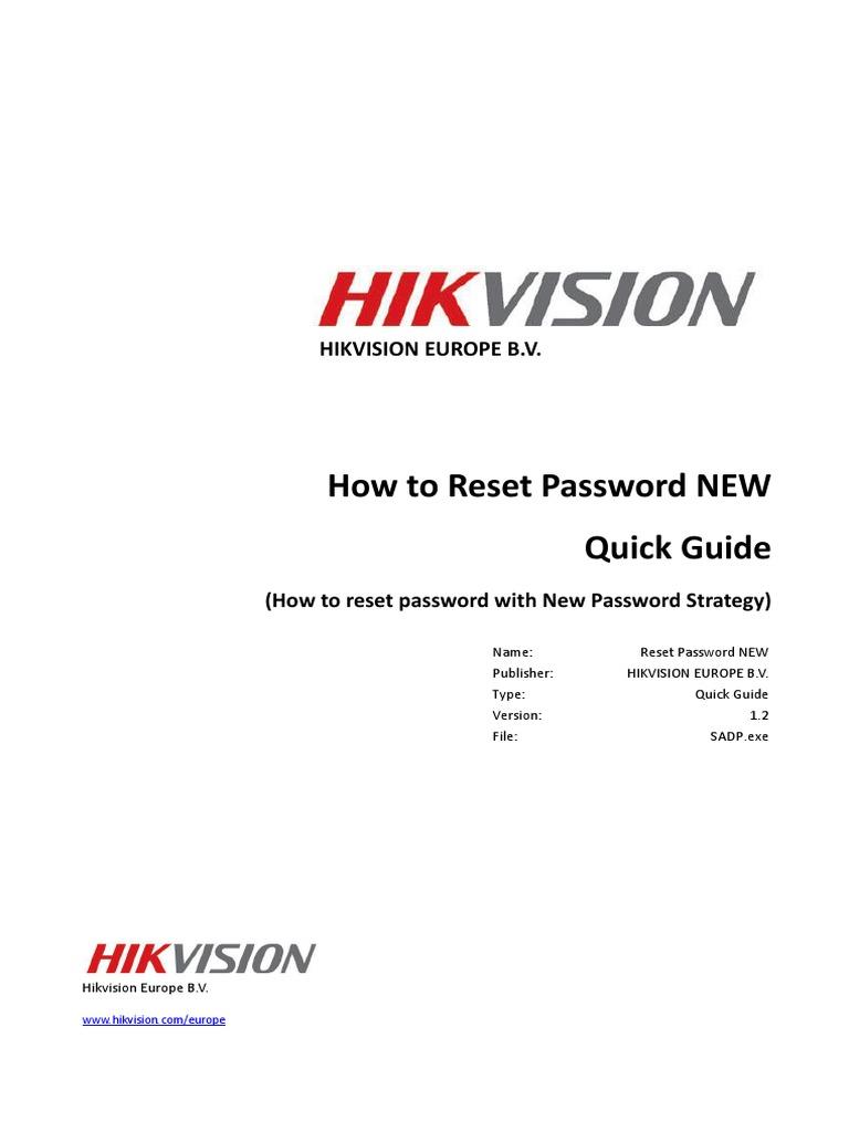 Quick Guide - Reset Password_Firmware Version Above V3 3 0_NVR V5 3
