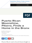 Puerto Rican Moonshine, Pitorro, Finds a Home in the Bronx Edible Manhattan