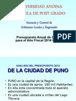 Presupuesto Nacional 2014