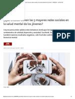 ¿Qué Efectos Tienen Las 5 Mayores Redes Sociales