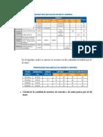 Resumen Dosificaciones y Especificaciones Tecnicas de Construccio