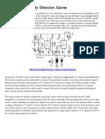 Infrared Proximity Detector Alarm