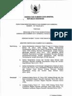 Permen ESDM nomor 04 tahun 2010 tentang Renstra KESDM