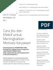 Cara Jitu Dan Efektif Untuk Meningkatkan Motivasi Karyawan _ Pakar Kinerja Sumber Daya Manusia