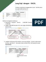 Mudah Menghitung Gaji Dengan EXCEL