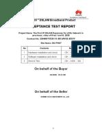 Acceptance Test Report MA5600 Per Province