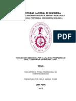 Exploración geoquímica por Cu y Ag en el prospecto San Fidel – Tornamesa - Huarochirí – Lima.pdf