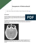 Emergent Management of Subarachnoid Hemorrhage