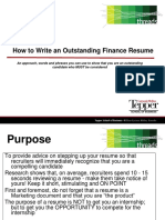 How to Write a Great Finance Resume New Template