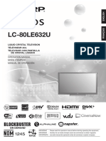 Aquos Manual Lc80le632u