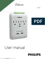 Cargador USB Wall Philips Spp3038a17_user_manual