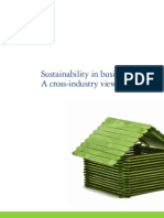 Deloitte Sustainability in Business Today a Cross-Industry View