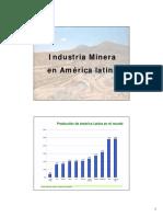 3.- Industria Minera en America Latina y El Mundo