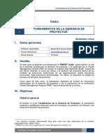 Sílabus - Dirección de proyectos PMP