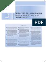 La Evolución de La Educación Superior Desempeño de La Educación General Básica y El Ciclo Diversificado