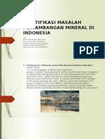 Identifikasi Masalah Pertambangan Mineral Di Indonesia