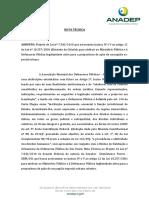 Nota T Cnica - PL n 7542.2010 Usucapi o Especial Legitmidade DP