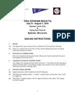 2010 Ephraim Regatta Sailing Instructions