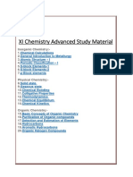 XI Chemistry Chapterwise Advanced Study Material