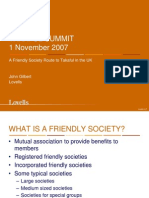 Friendly Society Route to Takaful