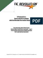 Sports Academy Proposal Westlake Rec