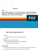 TEMA 3- Bases Farmacocinéticas. Absorción y Distribución