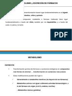 TEMA 3- Bases Farmacocinéticas. Metabolismo y Excreción