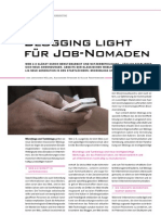 Blogging Light für Job Nomaden